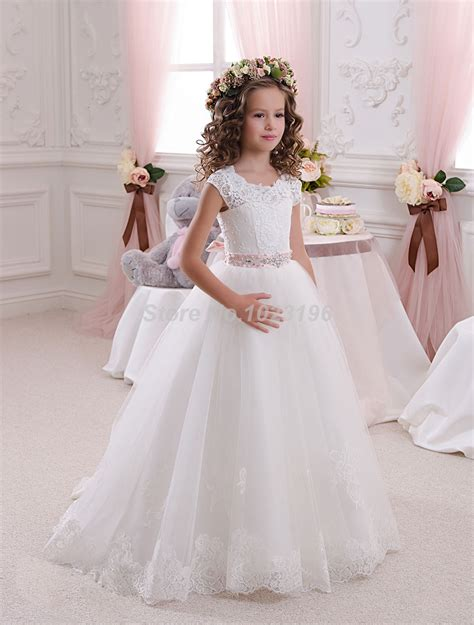 Gaun Pesta Anak Pretty buy grosir lace communion dresses for