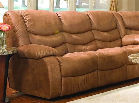 Microfiber Sectional With Recliner by Rust Specially Treated Microfiber Sectional W Recliner Seat
