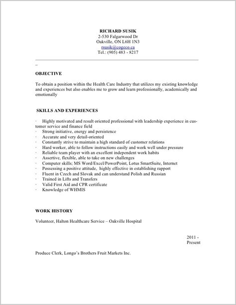 free resume sles for psw free sle resume for personal support worker resume resume exles gezmoeelok