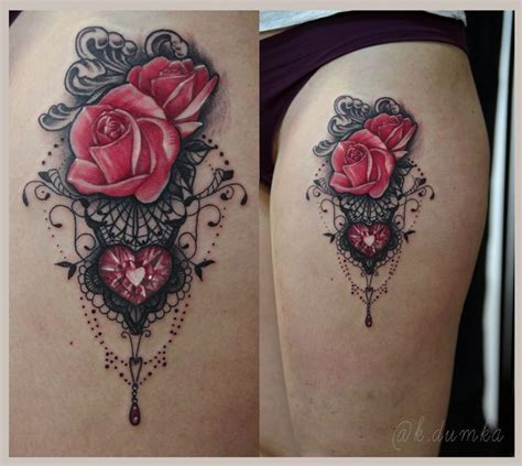 black rose lace tattoo best 25 lace tattoos ideas on thigh