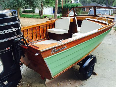 thompson wooden boats for sale thompson runabout boat for sale from usa