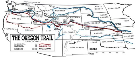 map of oregon trail through kansas oregon trail pathway to the west legends of america