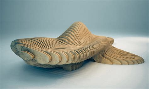 parametric design  curvilign bench  clement loyer