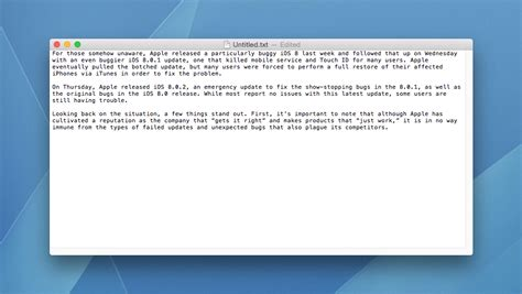 Textedit Document how to use textedit plain text mode by default in mac os x