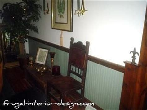 Wainscoting Vs Chair Rail Painted Wainscoting And Stained Trim Master Bedroom