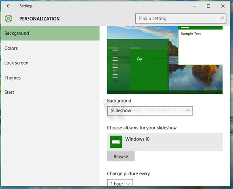 slideshow themes windows 10 enable desktop slideshow auto changing desktop wallpaper