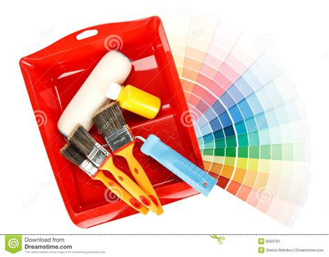 painting tools and color guide stock image image 8503761