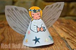 Wooden Christmas Ornament - 21 angel crafts kids can make at christmas mommy s bundle