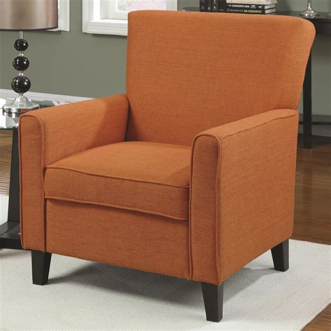 Fabric Accent Chair Coaster 902094 Orange Fabric Accent Chair A Sofa Furniture Outlet Los Angeles Ca