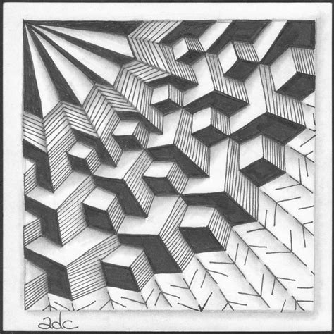 rectangle pattern drawing 17 best images about zentangle dimensional tangles on