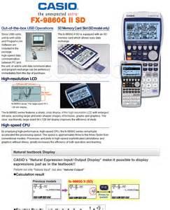 tutorial casio fx 9860gii sd casio fx 9860g ii sd fx 9860gii sd graphic models