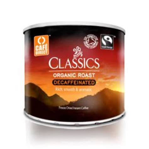 Cafedirect Special Instant Fairtrade On The Go by Cafedirect Fairtrade Organic Instant Decaf Coffee Tub 500g