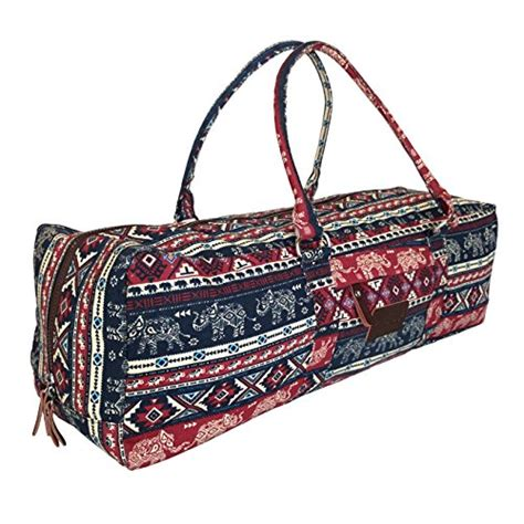 yoga duffle bag pattern yoga mat duffel bag carrier patterned canvas with pocket