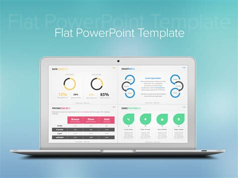 Flat Powerpoint Template By Idny Dribbble Flat Design Powerpoint Template
