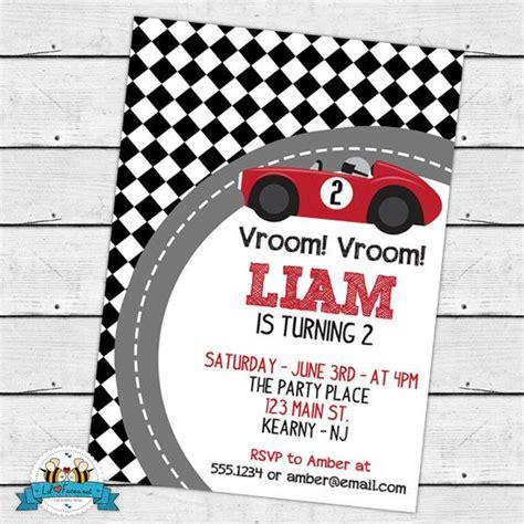 Race Car Birthday Card