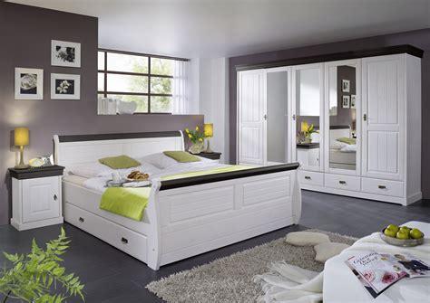 Schlafzimmer Komplett Kiefer Massiv Wei 223 Kolonial Landhaus