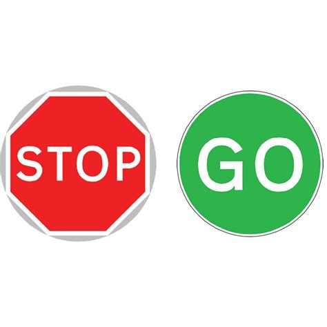 Ravishing Stop And Go Signs Printable Best 25 Ideas On ... Go Sign Clip Art