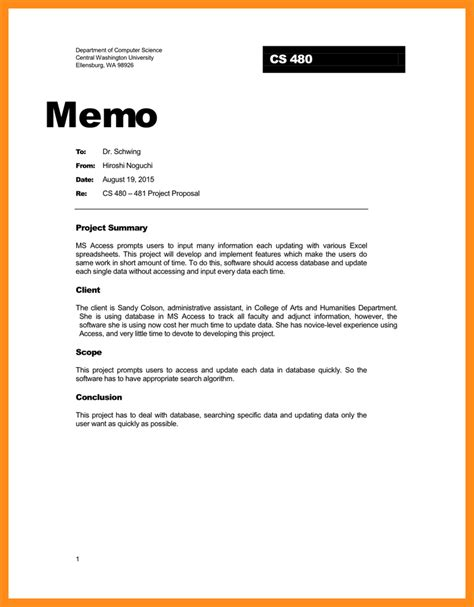 Memo Template To 5 Professional Memo Musician Resume