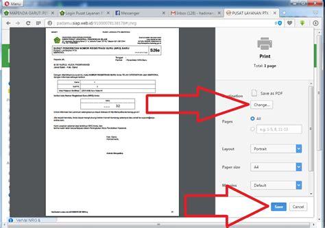 format dz adalah cara mencetak ulang s26e menggunakan akun ptk operator