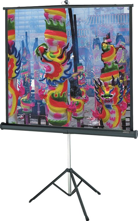 Tripod Screen 70 X 70 da lite 72263 versatol 70x70 matte white tripod projection screen