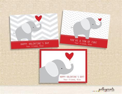 printable cards elephant