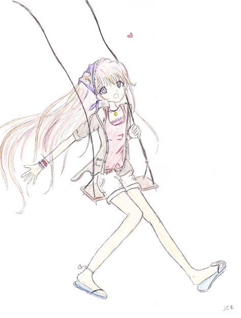 girl on swing drawing girl on a swing by jcrpurple417 on deviantart