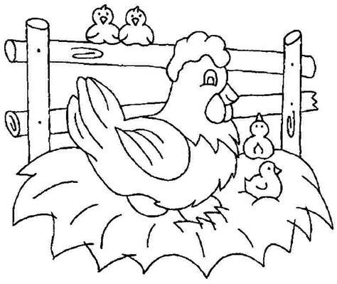 chicken coloring page free printable free printable chicken coloring pages animal chicken