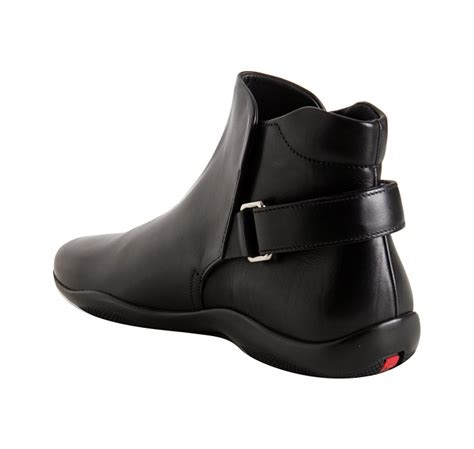 prada mens ankle boots prada black calfskin ankle boots in black for lyst