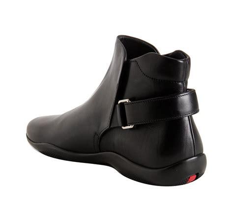 prada boots mens prada black calfskin ankle boots in black for lyst