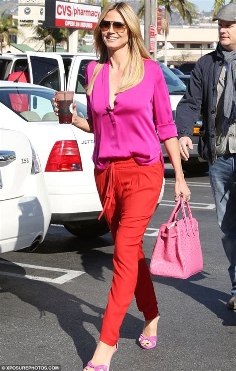Colour Trend by Heidi Klum Joins The List Of Celebrities Mixing Up Pink