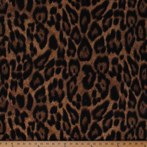 leopard print fabric leopard spots animal print jungle brown fleece fabric