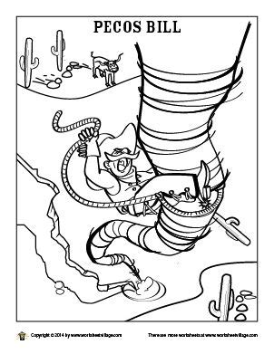 printable version of paul bunyan pecos bill coloring page tall tales pinterest tall