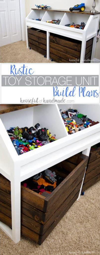 rustic toy storage unit build plans  houseful  handmade