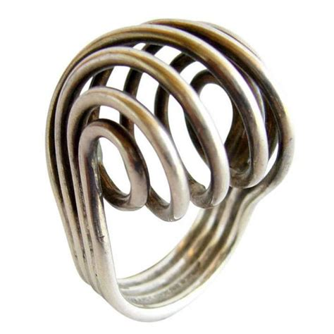 greta eker for plus sterling silver spiral ring at