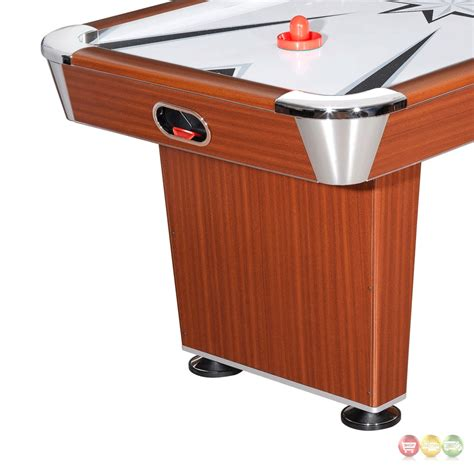wood air hockey table midtown 6 ft air hockey table in cherry wood tone finish