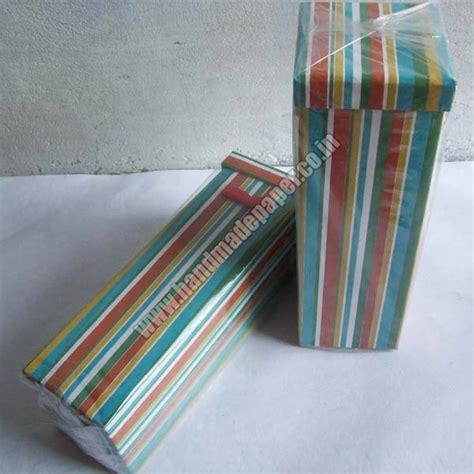 Handmade Paper Boxes - handmade paper wine bottle boxes handmade paper wine box