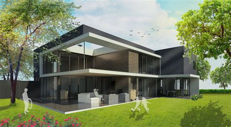 verande moderne moderne villa veel glas en sfeervolle veranda