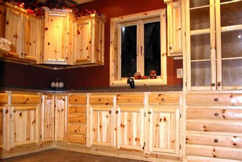 custom pine cabinets log cabin ideas