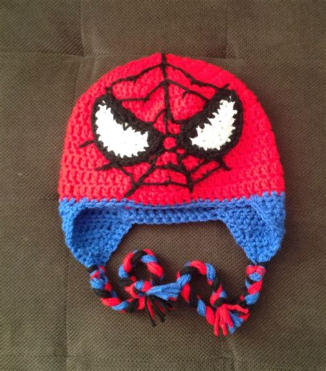 spiderman pattern knitting spiderman hats tag hats