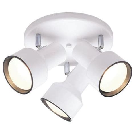 Home Depot Interior Light Fixtures Westinghouse 3 Light Ceiling Fixture White Interior Multi Directional Flush Mount 6632600 The