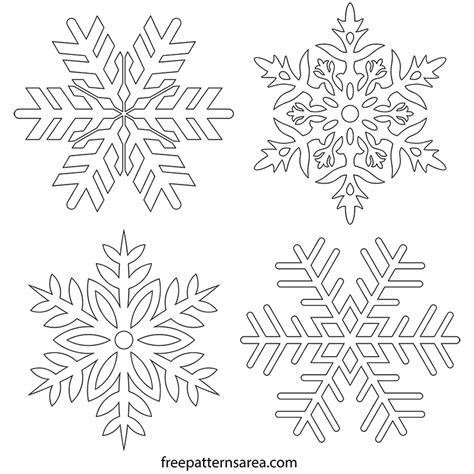 snowflakes pattern png free snowflake stencil clipart vector drawings