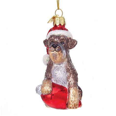 holiday schnauzer christmas ornament gump s