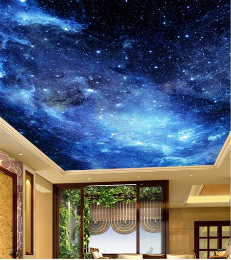 Ceiling Murals Wallpaper by Aliexpress Buy Blue Sky Ceiling Landscape Wallpaper