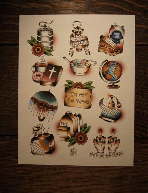 the wonder years tattoo the years the upsides flash sheet print by