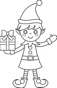 Christmas Elf Coloring Page Free Clip Art Coloring Pages Elves