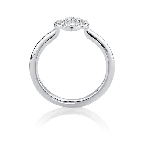 Silver Ring With Cubic Zirconia P 1009 cubic zirconia sterling silver quatre design ring
