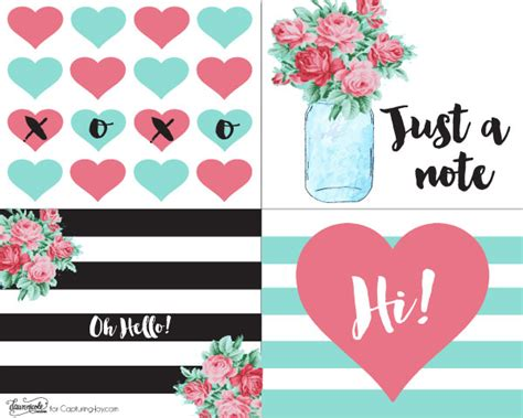 printable note cards free printable retro notecards capturing joy with