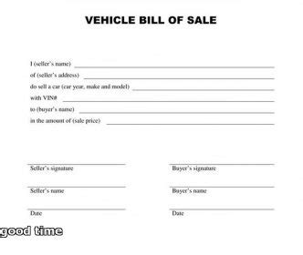 bill of sale for vehicle template and 45 fee printable bill of