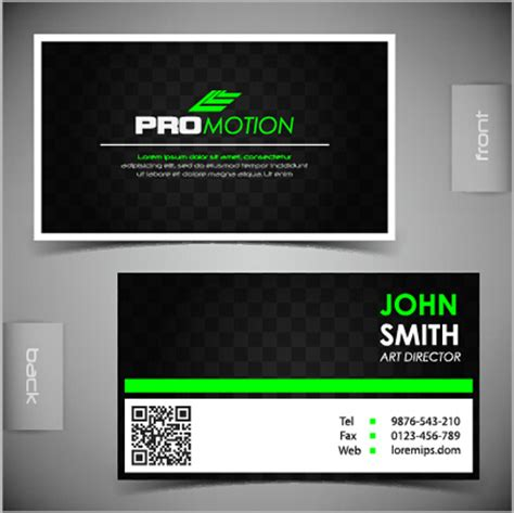 front and back business card template modern business cards front and back template vector free