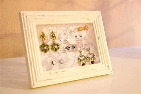diy earring holder diy lace picture frame earring holder you want me to buy that